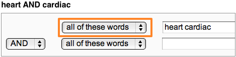 "HathiTrust search example ""AND"" / ""all of these words"""